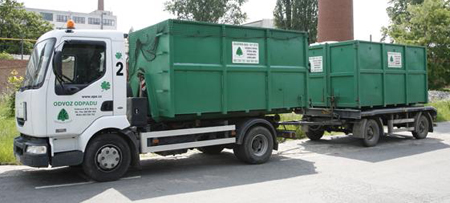Container Vehicle Renault Midlum with Trailer